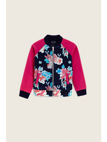 FLORAL BOMBER KIDS JACKET