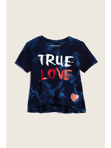 BIG KIDS TRUE LOVE DRAPE TEE