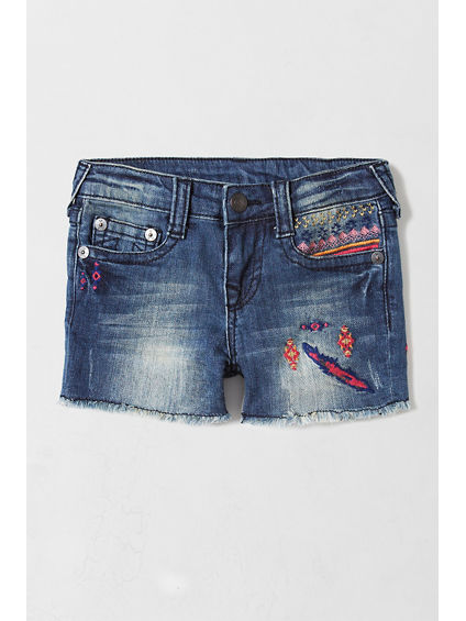 EMBROIDERED GIRLS SHORT