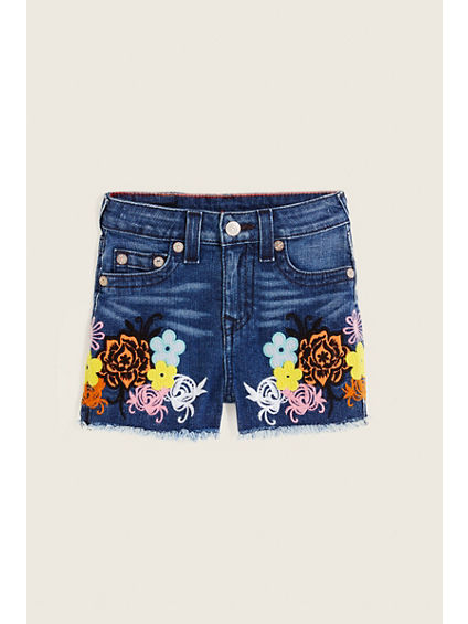 HIGH WAISTED KIDS SHORT