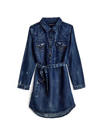 WESTERN SHIRT KIDS DRESS