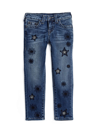 CASEY SKINNY EMBROIDERED KIDS JEAN