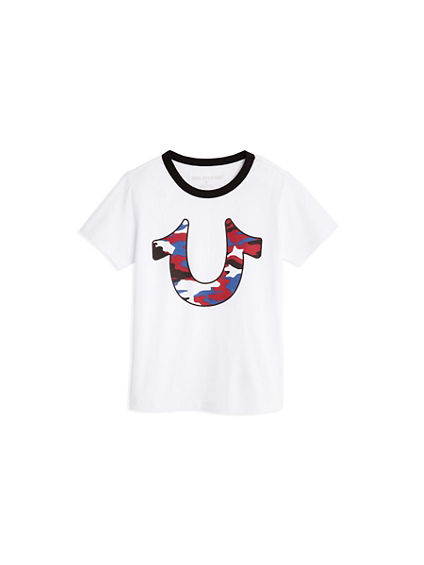 CAMO HORSESHOE KIDS TEE