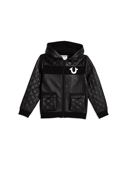 QUILTED COATED JACKET
