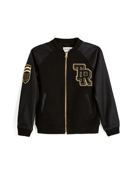 GOLD VARSITY KIDS JACKET