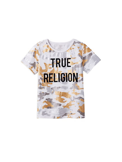 METALLIC CAMO KIDS TEE