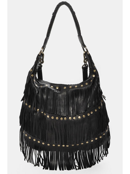 PENELOPE FRINGE SHOULDER BAG