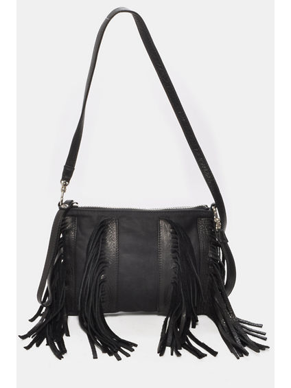SASHA SMALL CROSSBODY BAG  WITH FRINGE