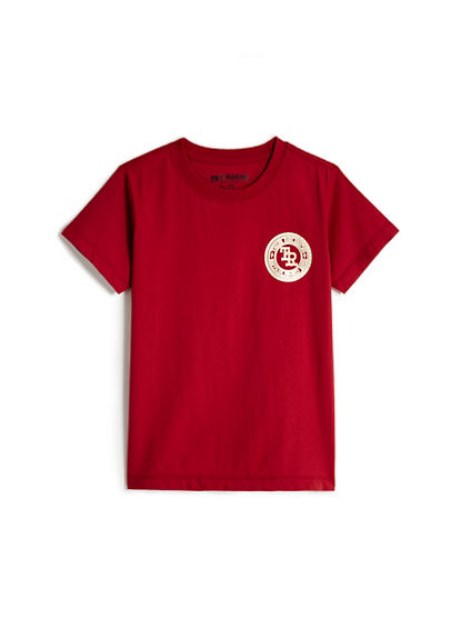 BIG KIDS METALLIC CREST TEE