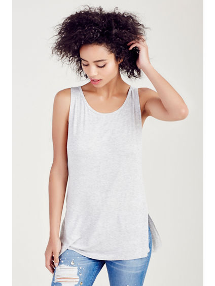 SIDE SLIT WOMENS TANK