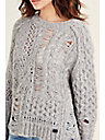 WOMENS DESTROYED ALPACA WOOL SWEATER