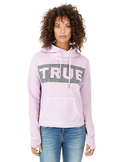 WOMENS CROPPED PULLOVER HOODIE