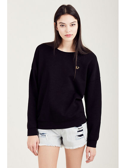 SIDE ZIP WOMENS SWEATSHIRT