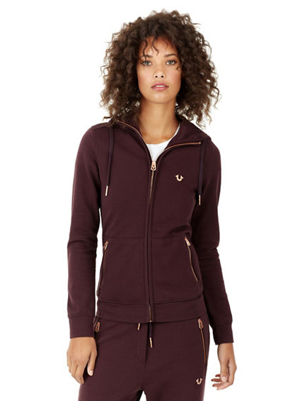 WOMENS SLIM ZIP UP HOODIE
