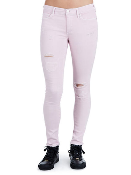 HALLE RIPPED SUPER SKINNY WOMENS JEAN