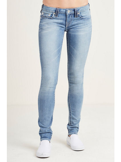 SKINNY NATURAL BIG T STITCH WOMENS JEAN
