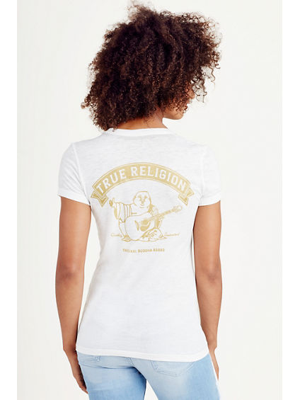 VINTAGE BUDDHA BURNOUT WOMENS TEE