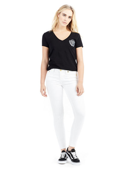 WOMENS SLIM V NECK TEE