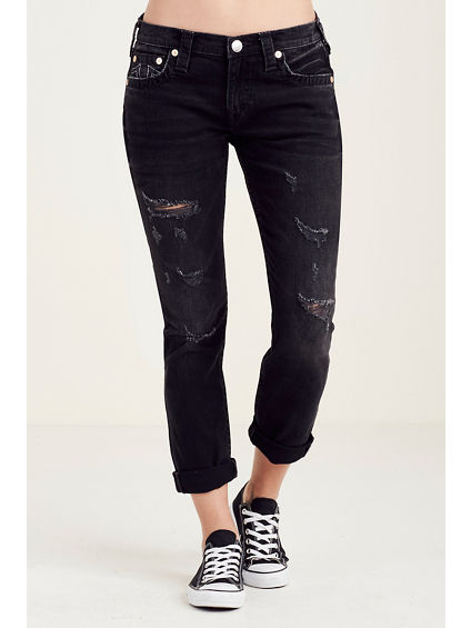 BOYFRIEND RIPPED WOMENS JEAN