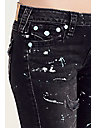SUPER SKINNY FLAP PAINT SPLATTER WOMENS JEAN