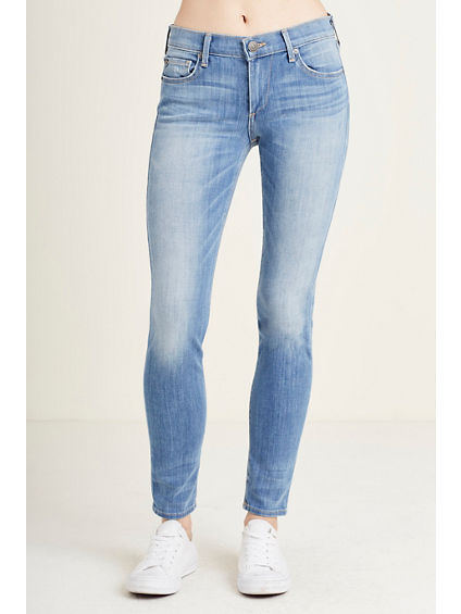 BOUNDLESS 360 STRETCH HALLE MID RISE SUPER SKINNY WOMENS JEAN