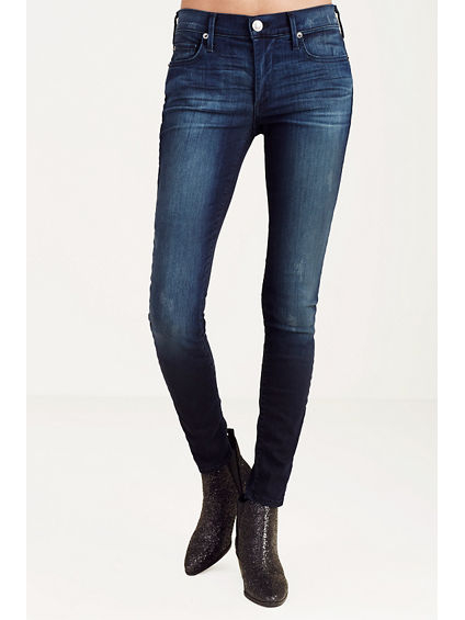 HALLE MID RISE WOMENS SUPER SKINNY