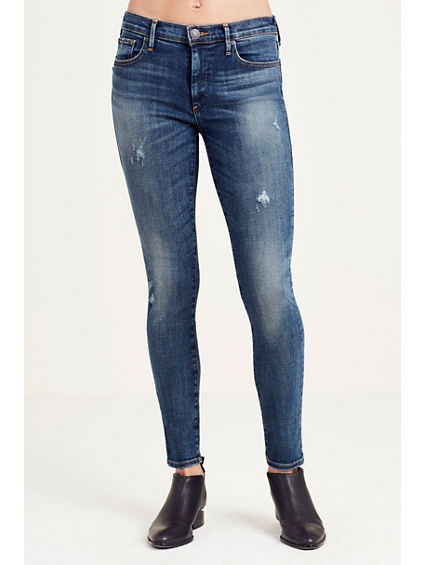 HALLE SUPER SKINNY DESTRUCT WOMENS JEAN