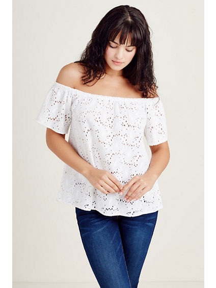 OFF THE SHOULDER WOMENS TOP