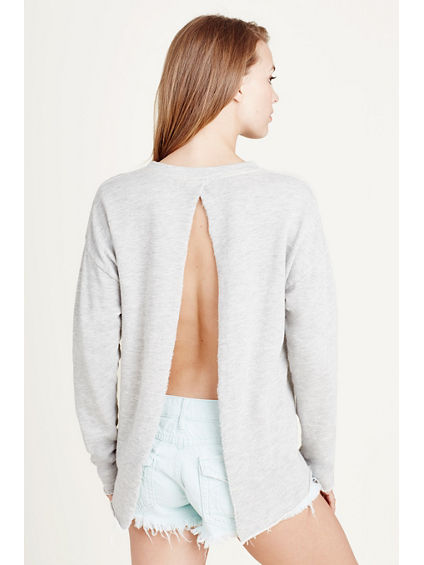 OPEN BACK WOMENS SWEATSHIRT
