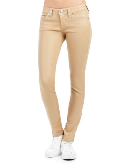 WOMEN'S SKINNY FIT LUSTER-COATED KHAKI JEAN