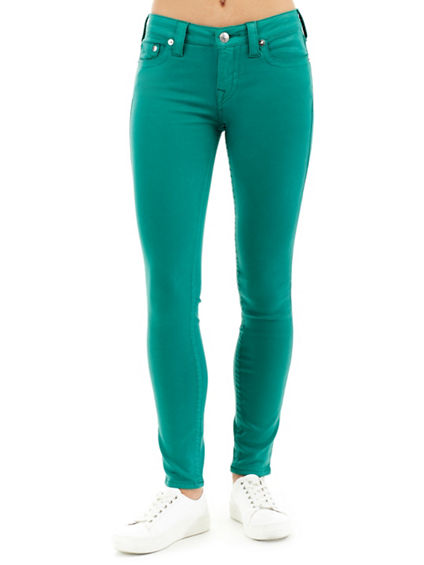 WOMEN'S SUPER SKINNY COLORED COATED JEAN