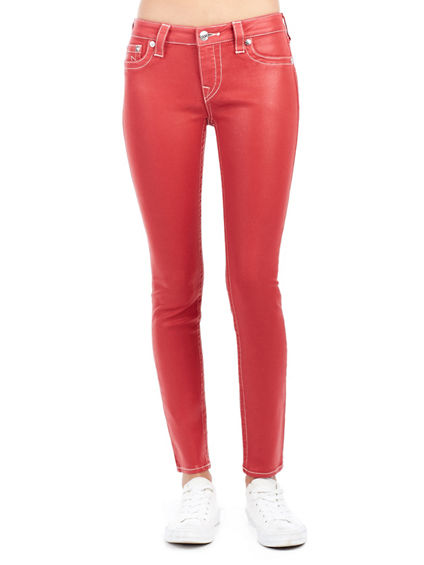 WOMEN'S SKINNY FIT LUSTER-COATED JEAN