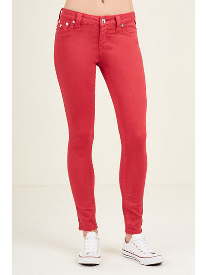 SUPER SKINNY RUBY RED WOMENS JEAN