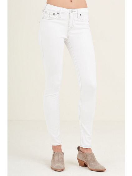 SUPER SKINNY FLAP BIG T WHITE WOMENS JEAN