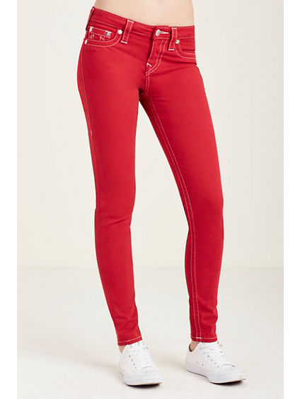 SUPER SKINNY RED WOMENS JEAN