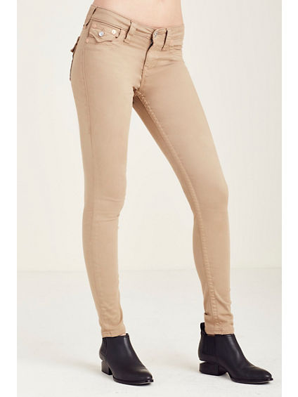 SUPER SKINNY FLAP KHAKI WOMENS PANT