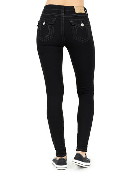 HIGH RISE FLAP SUPER SKINNY WOMENS JEANS