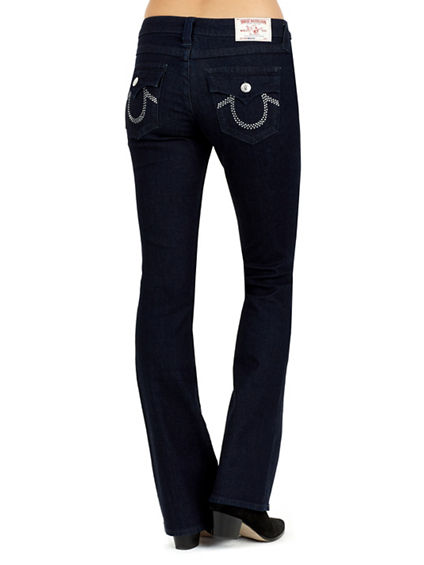 BOOTCUT CRYSTAL FLAP WOMENS JEAN