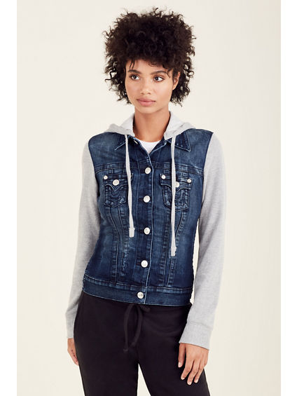 DENIM FLEECE WOMEN JACKET