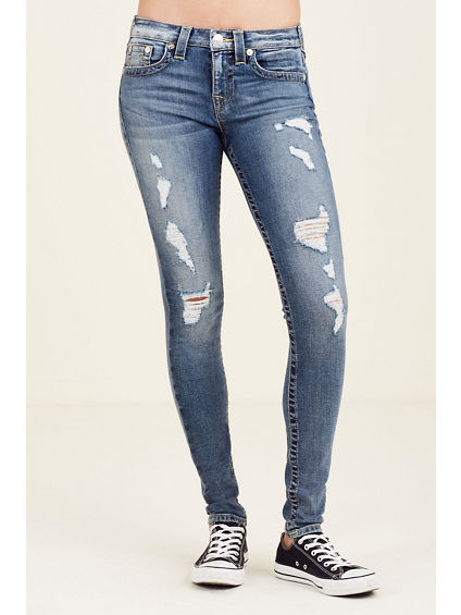 SUPER SKINNY RIPPED WOMENS JEAN