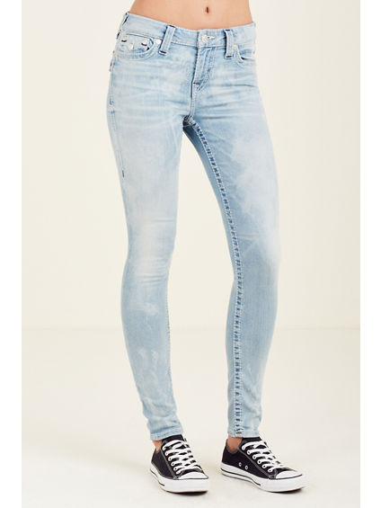 WOMEN'S SUPER SKINNY FIT BIG T JEANS