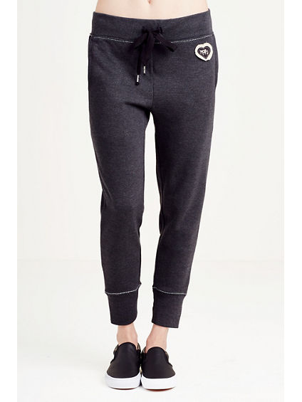 PATCH WORK SKINNY WOMENS SWEATPANT