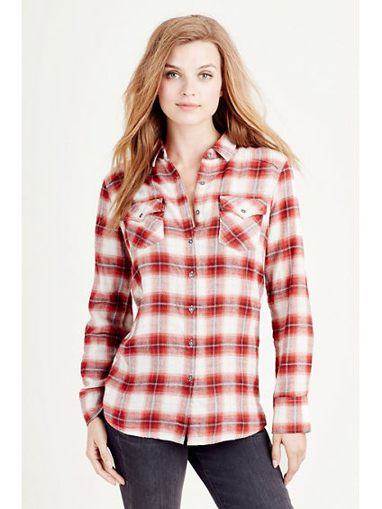 PLAID GEORGIA WOMENS SHIRT