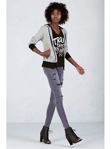THE RUNWAY DISTRESSED WOMENS LEGGING