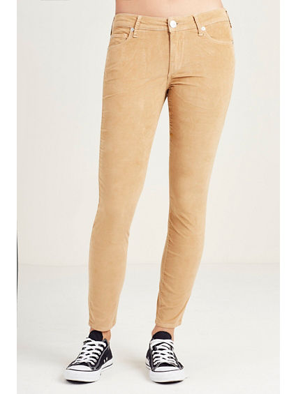 HAND PICKED SUPER SKINNY CROPPED CORDUROY WOMENS PANT