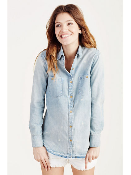 UTILITY DENIM WOMENS SHIRT