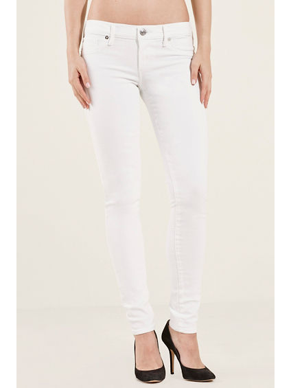 SUPER SKINNY FLAP WHITE WOMENS JEAN