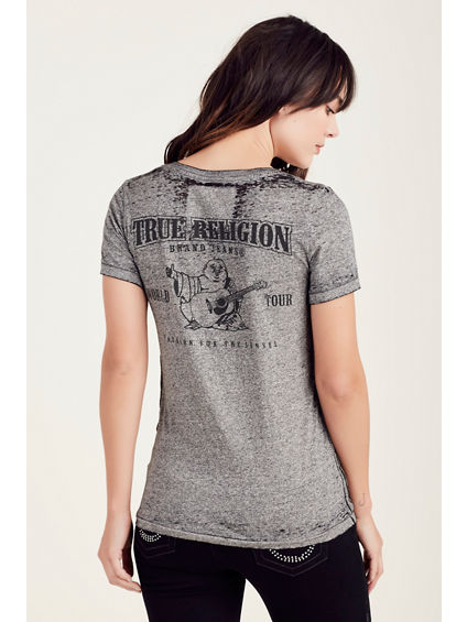 BUDDHA BURNOUT SLIM WOMENS TEE