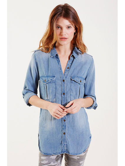 INDIGO MILITARY WOMENS SHIRT