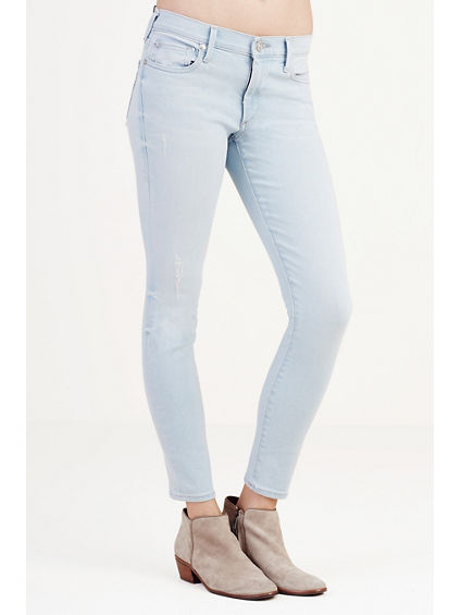 HALLE CROPPED SUPER SKINNY WOMENS JEAN
